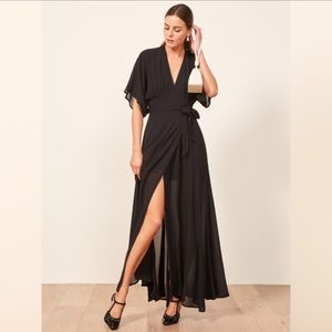 Reformation Winslow Maxi Wrap Dress 357